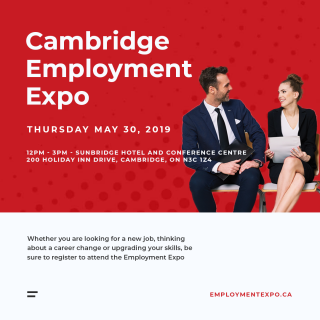 Save the date - May 30th - Job Fair in Cambridge!